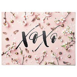 패브릭 포스터 F218 식물 레터링 액자 Blossom [중형]