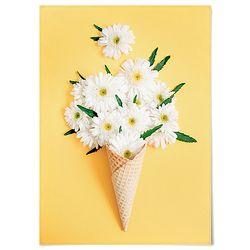 패브릭 포스터 F219 꽃 벽에거는천 카모마일 [중형]
