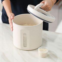 원형 라이스 밀폐 쌀통 10kg