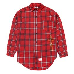 GUADALUPE OVERSIZED CHECK SHIRTS RED