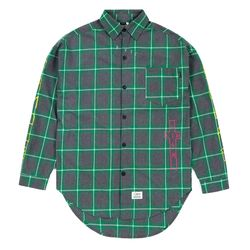 GUADALUPE OVERSIZED CHECK SHIRTS GREEN