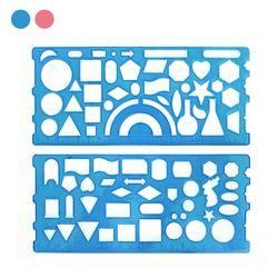 1000 도형모양자 (20cm)