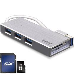 와이어맥스USB 3.0 허브3포트US3-SV 카드리더기겸용