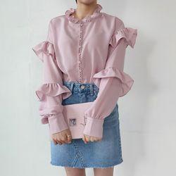 Feminine frill blouse2
