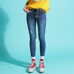 Thigh Slit Skinny Jeans(여성용)(girls)