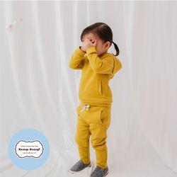 [긴팔실내복]베디후드-틴(머스타드)