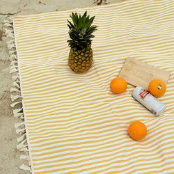 피크닉매트 - Yellow Stripe ( L )