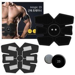 매직23 근육트레이너 복부패드1set전기자극EMS복근
