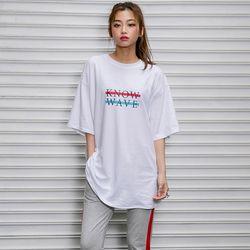 레인보우 레터링 티셔츠 (남여공용)