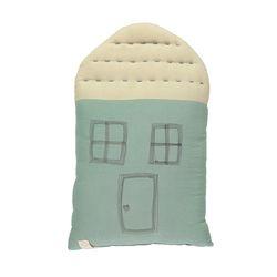 House Midi cushion - light teal & stone (29x47cm)