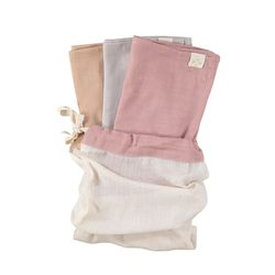 Multi Pack towel - blush & peach blossom & grey