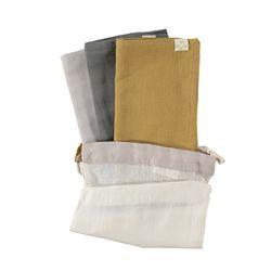 Multi Pack towel - ochre & slate & grey (56x56cm)