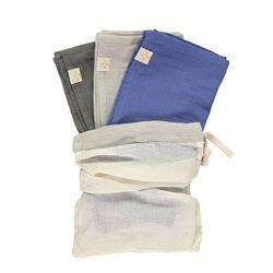Multi Pack towel - royal blue & grey & slate