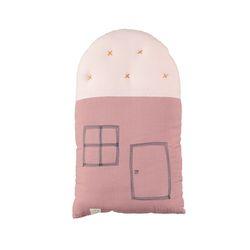 House Small cushion - blush & pearl pink (24x38cm)