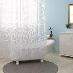 스테레오 패턴 투명 샤워커튼 모빌