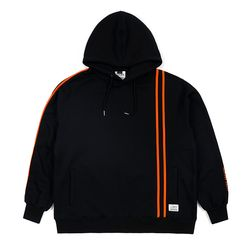 LINE SPORTS OVERSIZED HOODIE BLACK