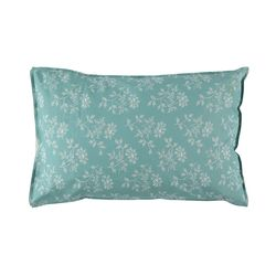 Hanako Floral pillow cover - light teal (50x75cm)