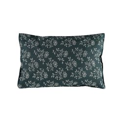 Hanako Floral pillow cover - thunder blue (S)