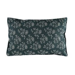 Hanako Floral pillow cover - thunder blue (L)