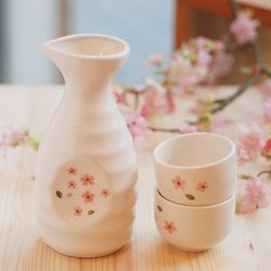 술병셋트(술병1+잔2)벚꽃(주름)