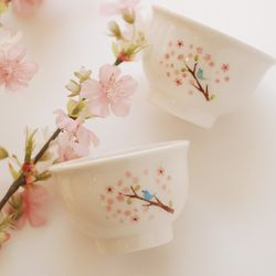 술잔(나팔)꽃과새