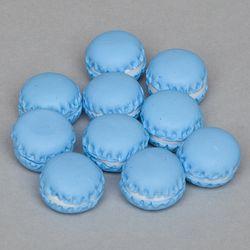 미니 블루 마카롱 모형(10개)