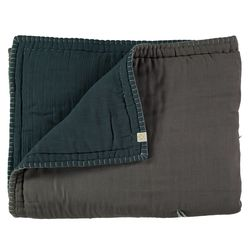 Hand Quilt Reversible comforter - blue (Q-K)
