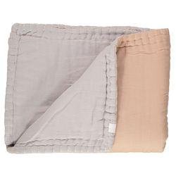 Hand Quilt Reversible comforter - peach (Q-K)