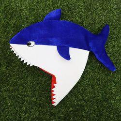 상어가족 모자 (블루아빠)