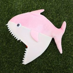 상어가족 모자 (핑크엄마)