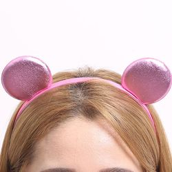칼라 폼 미니 머리띠 (핑크)
