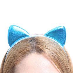 칼라 폼 고양이 머리띠 (블루)