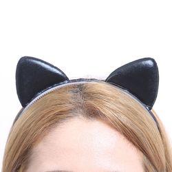 칼라 폼 고양이 머리띠 (블랙)
