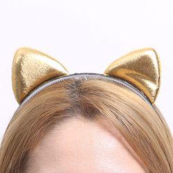 칼라 폼 고양이 머리띠 (골드)