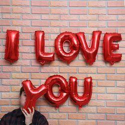이니셜 은박풍선 I LOVE YOU