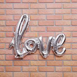 이니셜 은박풍선 LOVE (실버)
