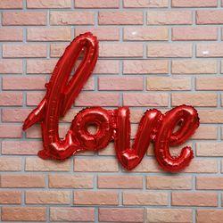 이니셜 은박풍선 LOVE (레드)