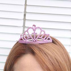 브라이덜 티아라왕관 6입세트 (핑크)