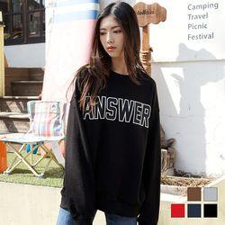 2088 ANSWER 맨투맨 티셔츠 (5colors)