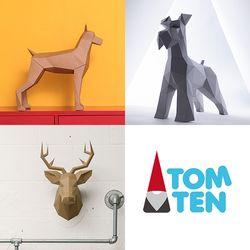 톰텐 DIY 도베르만핀셔+슈나유져+사슴머리장식