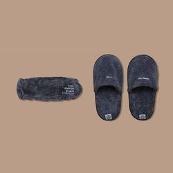 THE BAND & THE TOWEL SLIPPERS SET (GRAY)