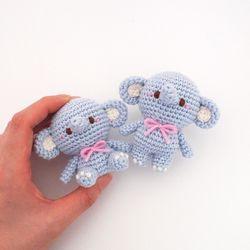 (DIY 키트) 손뜨개 코바늘 코끼리 인형