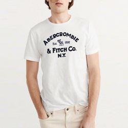 아베크롬비 반팔 티셔츠 0059 001 화이트 남녀공용