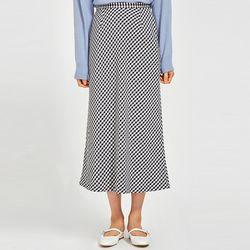 mense tiered check skirt (s m)