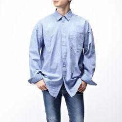 [매트블랙] 토퍼 스트라이프 오버 셔츠