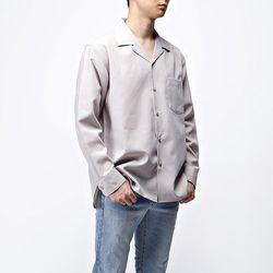 [매트블랙] 퍼블릭 기본 오픈 셔츠