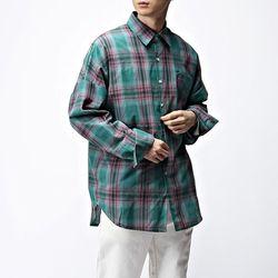 [매트블랙] 그루미 오버 체크 셔츠