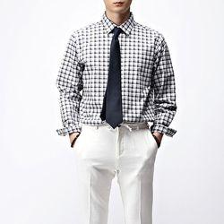 [매트블랙] 히든 체크 기본 셔츠