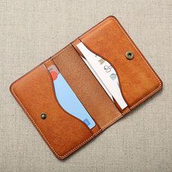 핸드메이드 가죽 심플 카드 지갑(각인없음)