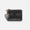 [동일컬러 하트 키링 증정] Dijon 301S Flap mini Card Wallet Black Pearl